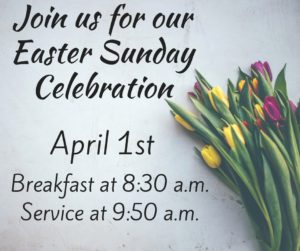 Join us for Easter Sunday